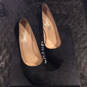Chanel platform heel